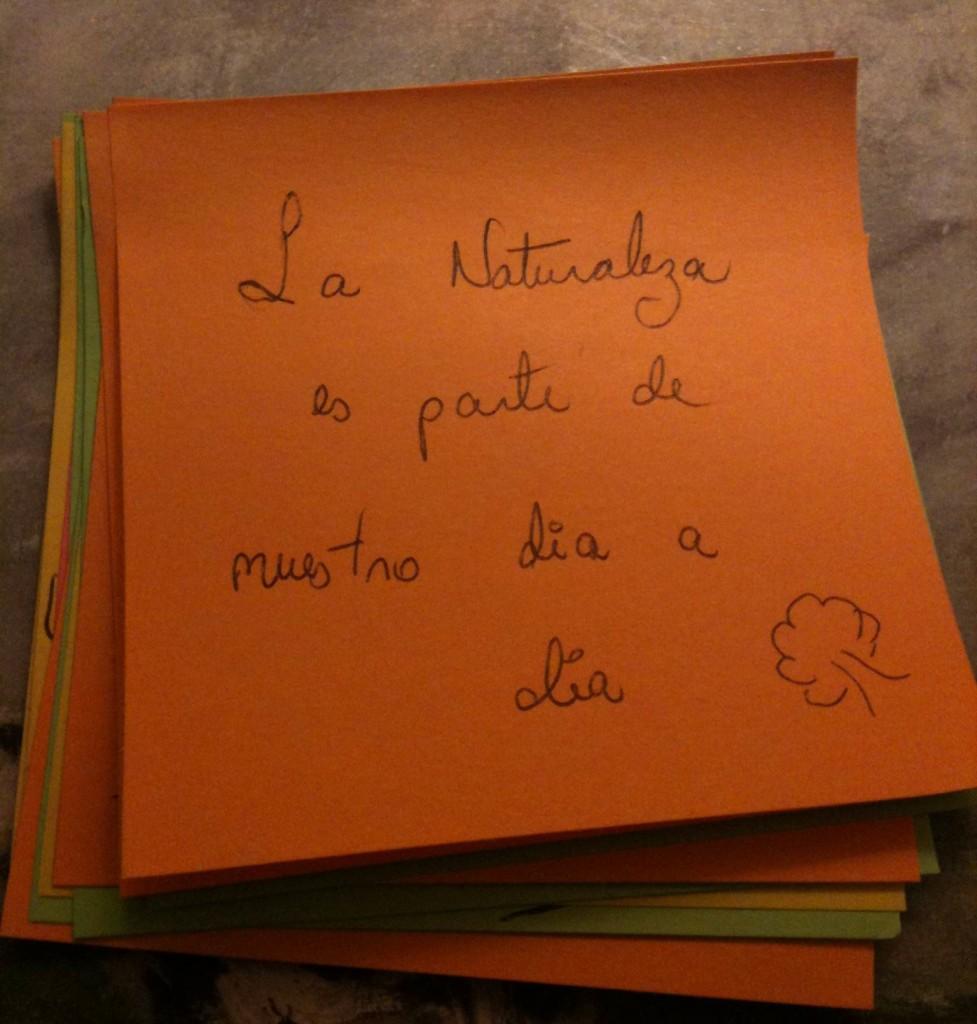 Petit papier en espagnol
